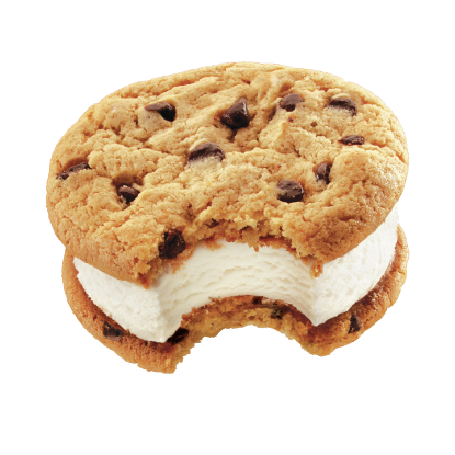 chocolate chip cookie ice cream sandwich